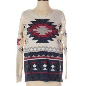 American Eagle Pullover Sweater Print Size Small